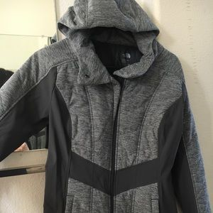quilted north face coat
